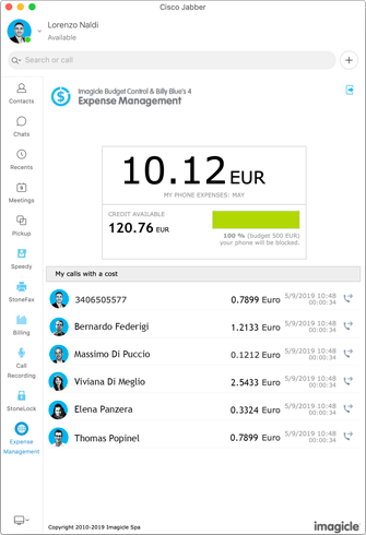 Gadgets para Jabber - Expense Management
