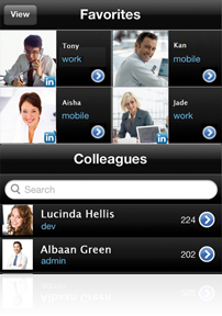 Imagicle Mobile Apps - Contacts
